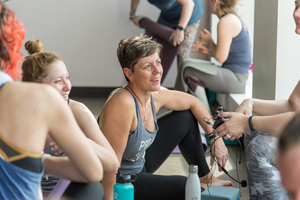 yoga teachers talking